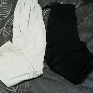 4 Pair Boys 10 Pants black, gray, khaki, navy